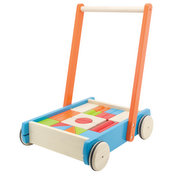 BABY WALKER WITH BLOCKS (24 PC)