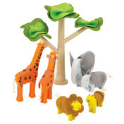 JUNGLE ANIMALS UNDER A TREE