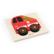 TRANSPORTATION PUZZLE TRAY ( FIRE ENGINE )